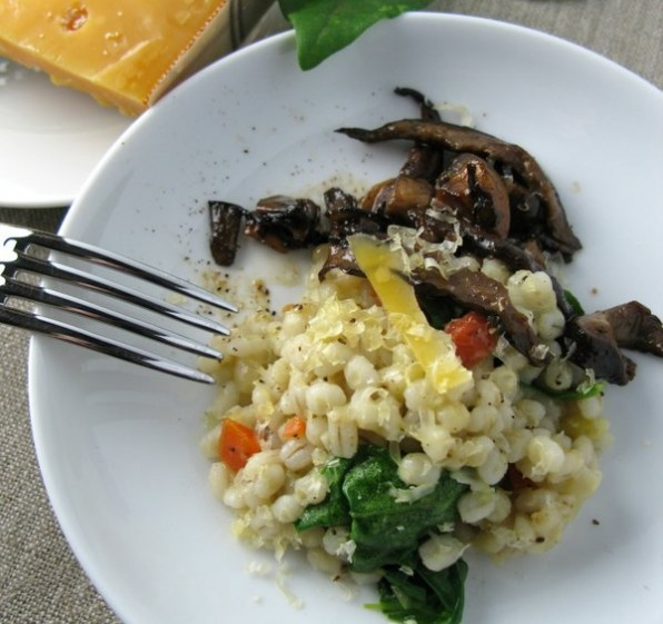 Barley Pilaf, Mushrooms and Aged Gouda