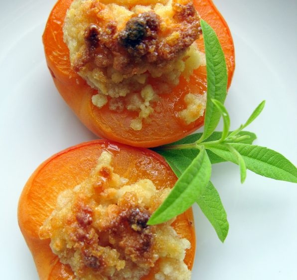 Summer Apricots, Baked with a Sweet Almond Filling