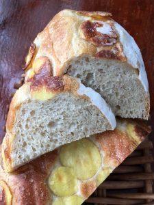 Emile Henry Potato Bread sliced