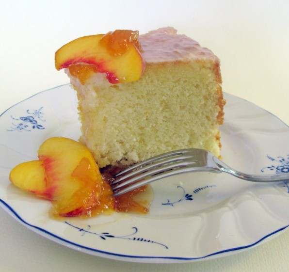 Orange Almond Chiffon Cake made with fine blanched almond flour, healthy baking with almonds