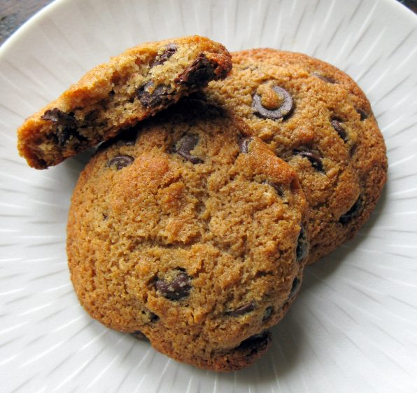 Almond and Buckwheat Flour Gluten Free Chocolate Chip Cookies