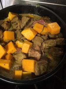 all-ingrtedients-before-cooling-lamb-and-butternut-squash-curry