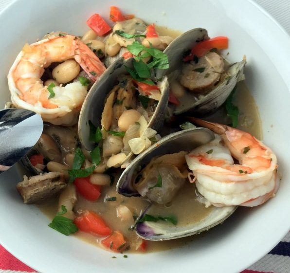 Clam, Sausage and White Bean Stew