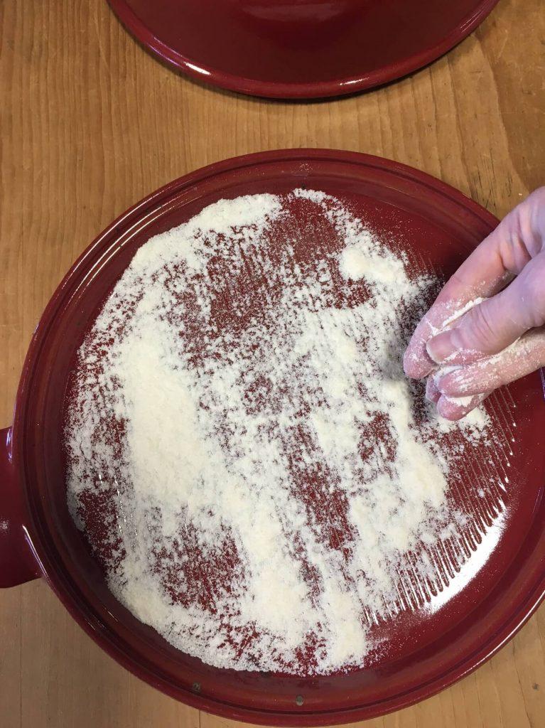 Golden Raisin Walnut Crown Loaf flour platter