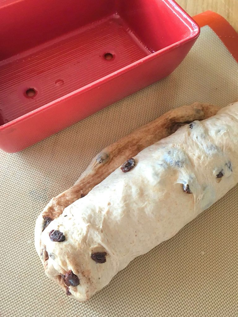 Tuck the ends in before placing the dough into your loaf pan