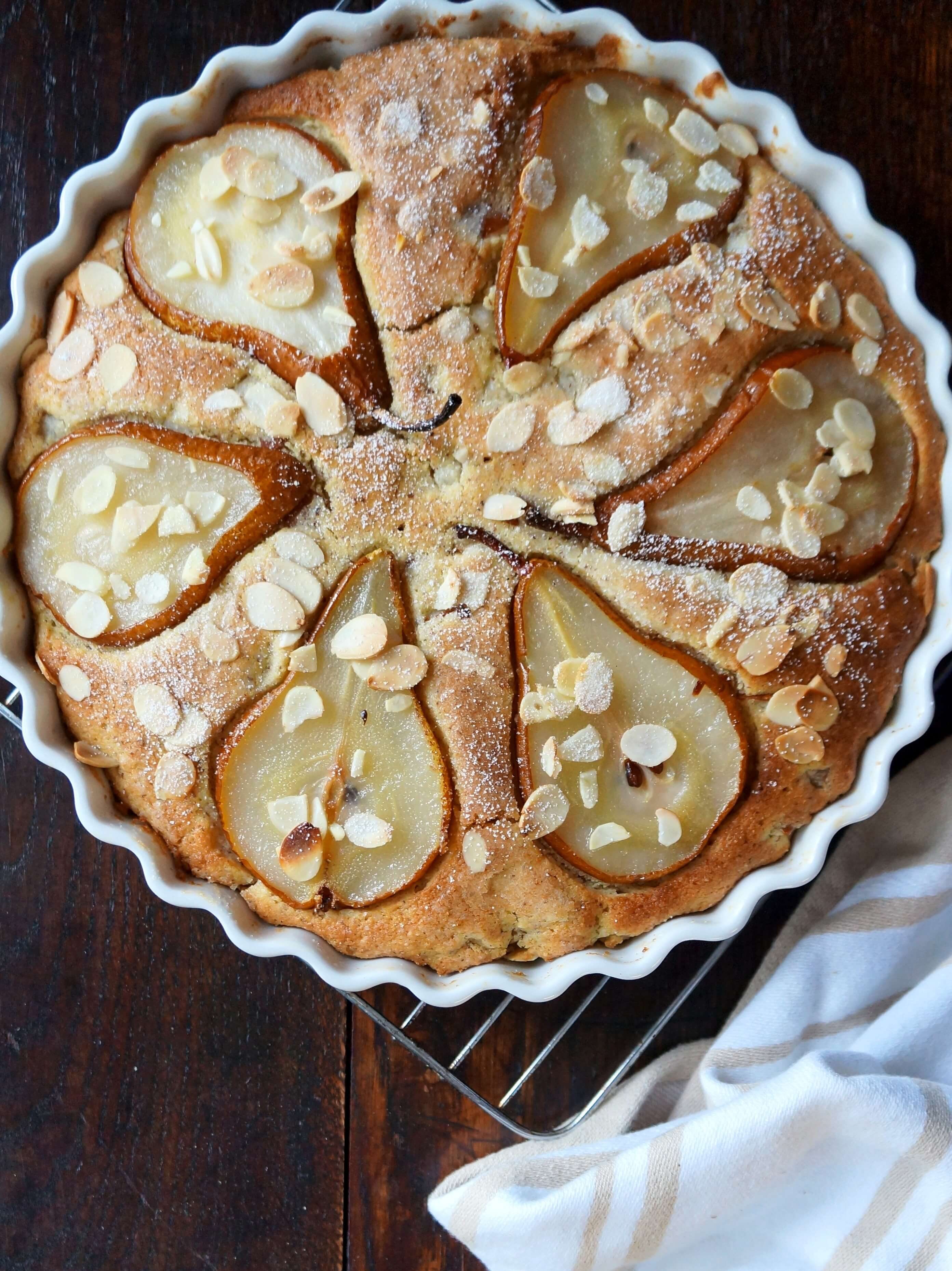 Pear Almond Polenta Cake