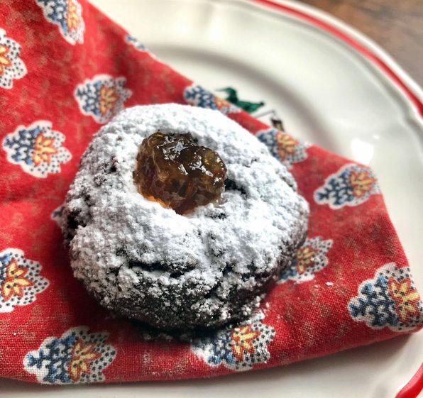 Chocolate Diabolo Thumbprint Cookie