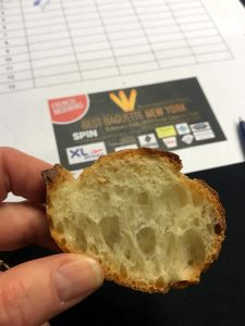 Cross section of an excellent baguette at Best Baguette New York 2019
