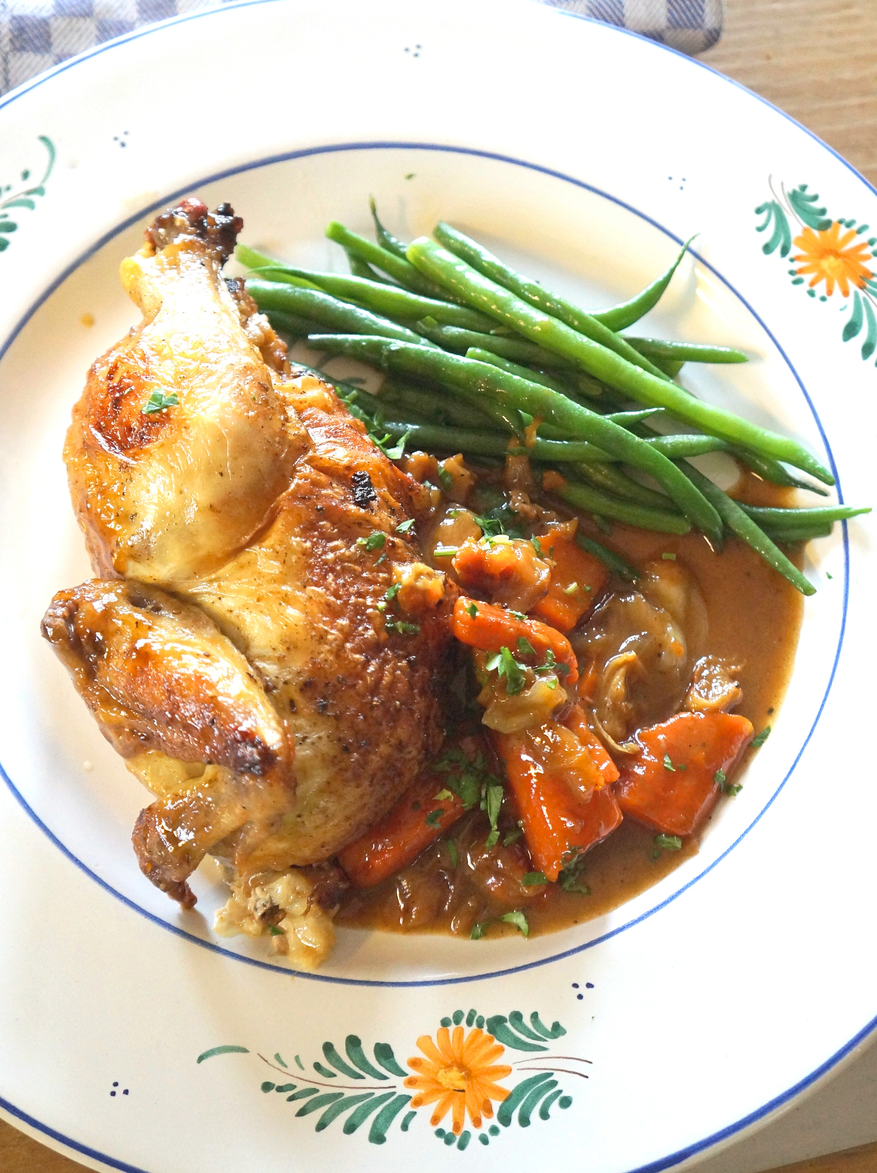 Poussin en Cocotte – Baby Chicken Roasted with Vegetables