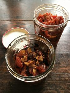 Seat-of-the-pants tomato confit in jars