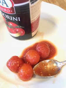Canned Italian cherry tomatoes