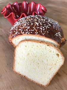 Baked lean brioche sliced 2