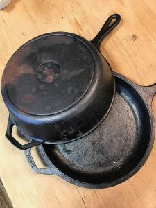 Dutch oven for experimental no knead bread