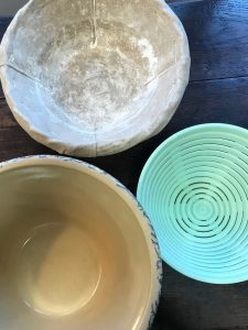 Bowls, banneton and brotform for bread making