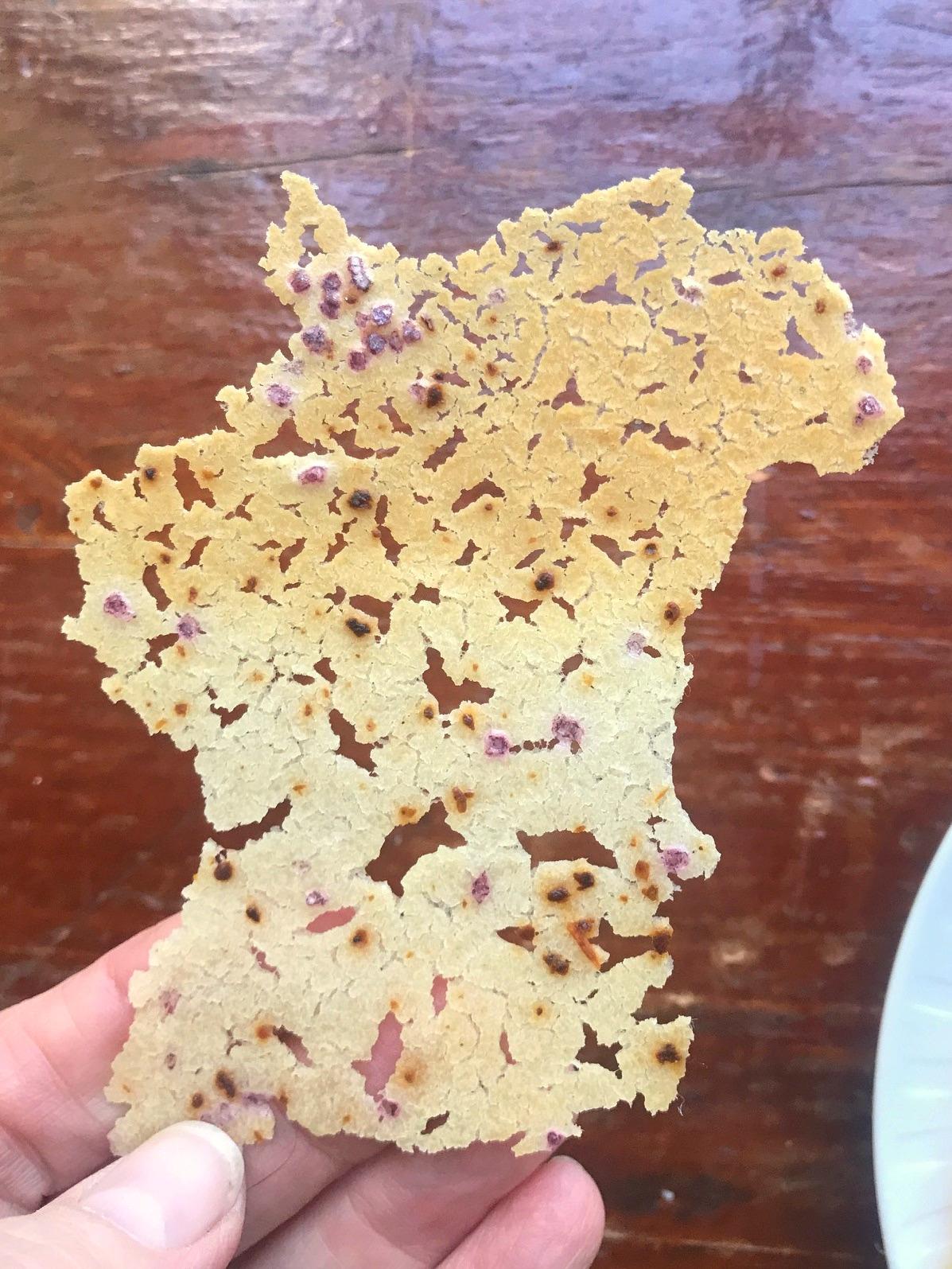 Sourdough Parchment Crackers