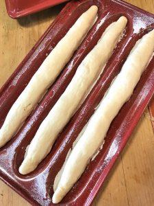 Ficelles in Emile Henry baguette mold