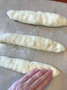 Press out the dough