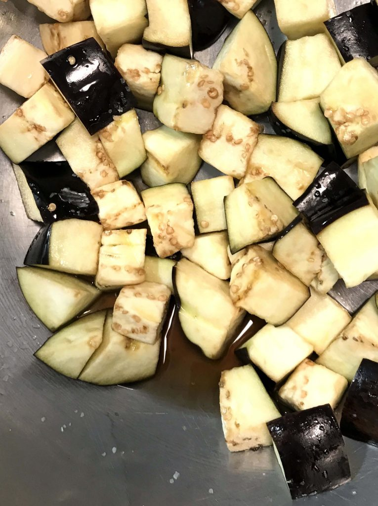 Eggplant after salting and sitting